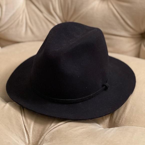 Black J Crew wool fedora hat size M/L